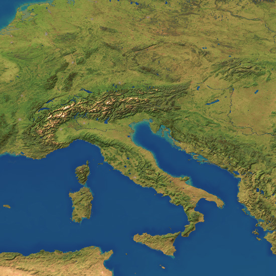 Index Of Mapsrr: Italy Topographic Map At Slyspyder.com